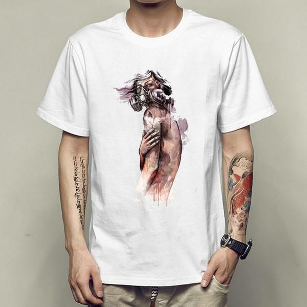 Gas mask man t shirt Resident Evil short sleeve gown Free shipping tees Unisex clothing Quality modal Tshirt