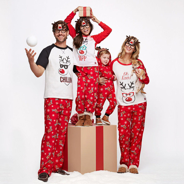 Matching Christmas Pjs.Family Matching Christmas Pajamas Set Mum Dad Kids Sleepwear Nightwear Pjs Xmas Clothes Mom And Child Matching Clothes Matching Mother Daughter Easter