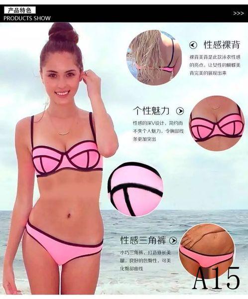 2018 New Style Split Stitch Bikini Sexy Tops Swimsuit Swimsuit Low Waist Women's Beachwear Swimsuits Suit Bikini