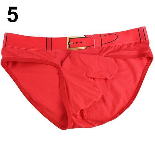Moda da uomo Soft Sexy perizoma intimo liscio lungo rigonfiamento Pouch Shorts Slip