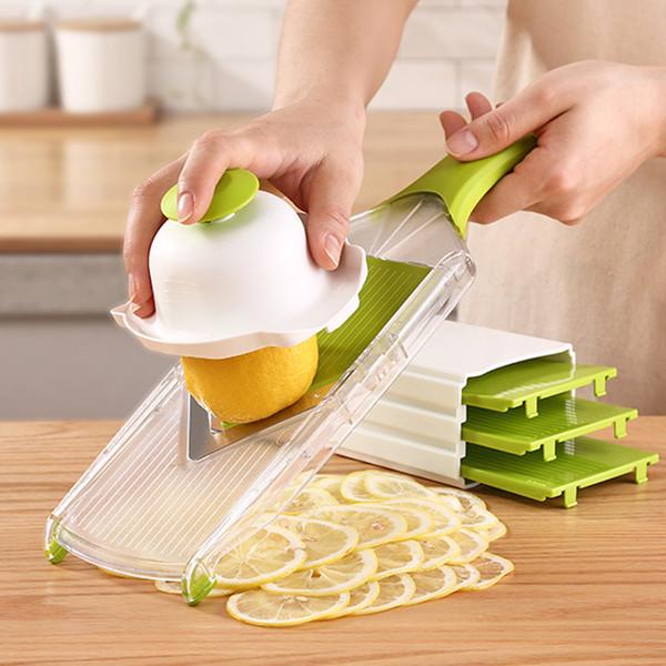 Lemon slicer Vegetable Fruit Nicer Slicer Dicer Plus Chopper Cutter Peeler Vegetable Fruit Multi Grater Peeler Cutter Chopper Slicer B