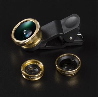 Mobile Lens Wide Angle Macro Fish Eye Three in one 4K Special Effects Lens Manufacturers Direct Sale