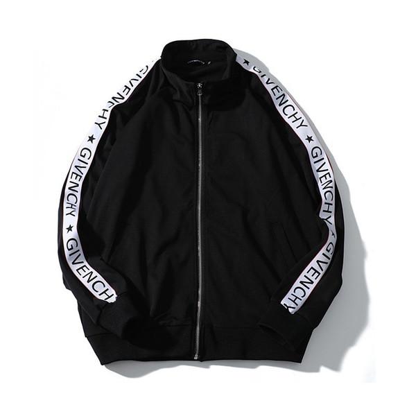 2018 осеннее и зимнее мужское письмо печатать шаблон удобный и красивый  прохладный черный круглый спортивный костюм 6591c72de4b