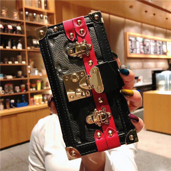 Rivet Real Folio Vegan Leather Wallet Clutch Case Purse Holster Phone Cover Lanyard for iPhone 6.1'' 6.5'' 4.7'' 5.5''