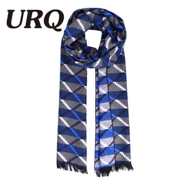 Vente en gros d'hiver chaud écharpe homme doux conception tartan foulards occasionnels d'hiver hommes imitation écharpes en cachemire luxe écharpes chaudes