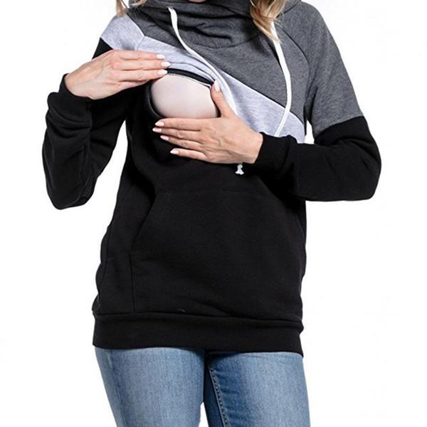 Случайные толстовки Sweatsgurts женщин материнства кормящих пуловер грудное вскармливание для беременных женщин мать кормление грудью топы WS5754M