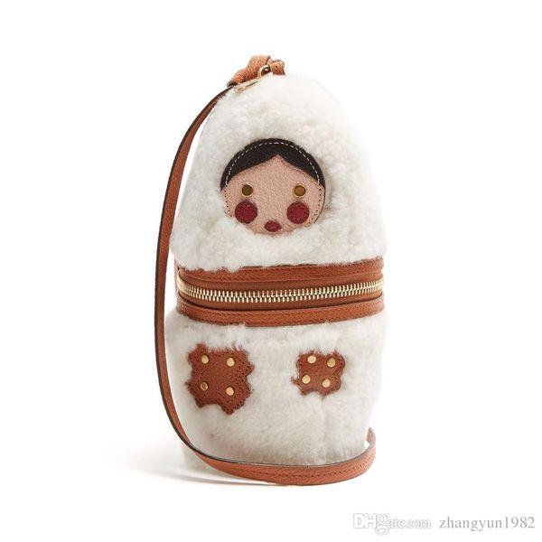 Vananya rabbits fur Bag for women fashion cartoon bags designer brand Shoulder Bag for Ladies cartoon dolls bags Sac a Main bolsos Muje