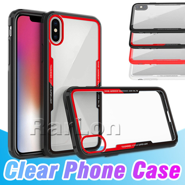 Date Cas Soft Color Edge Effacer Transparent Retour TPU Cas Avec Prise Antipoussière Pour iPhone XS MAX XR Samsung Galaxy S10 plus s10e S9 Huawei