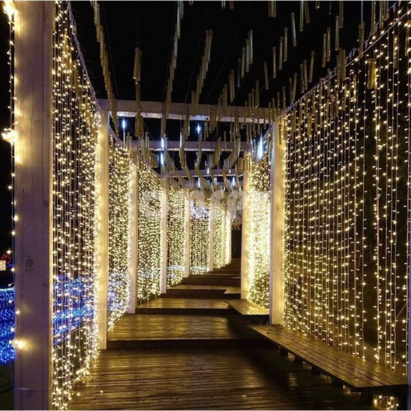 10M x 3M 1000 Bulbs Christmas LED Curtain String Lights Decorations For Wedding Garland Light Holiday Party Garden Decor