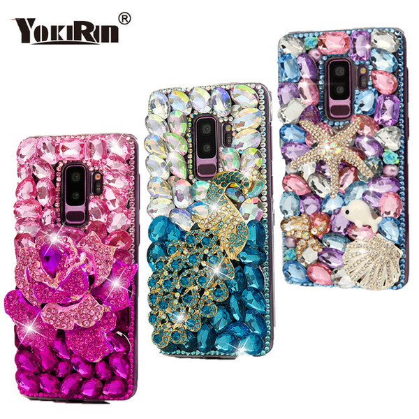wholesale Diamond Case For Samsung Galaxy S8 S9 Plus Bling Glitter Crystal Rhinestone Hard PC Back Cover For iPhone 6 6S 7 Plus