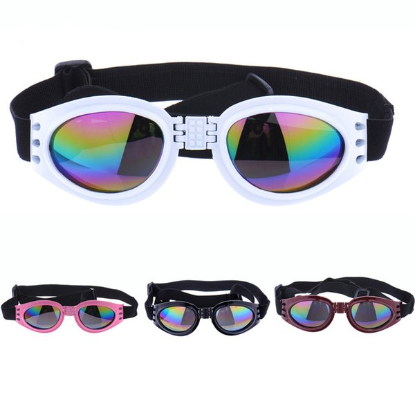6 Colors Foldable Pet Dog Glasses Medium Large Dogs Glasses Eyewear Waterproof Dog Protection Goggles UV Sunglasses Pet Accessories Supplier