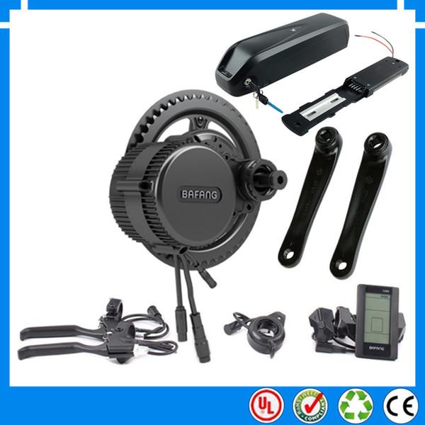 EU US No tax 36V 250W BBS01B Bafang mid drive electric motor kit with 36V 13Ah Li-ion ebike battery with USB+charger