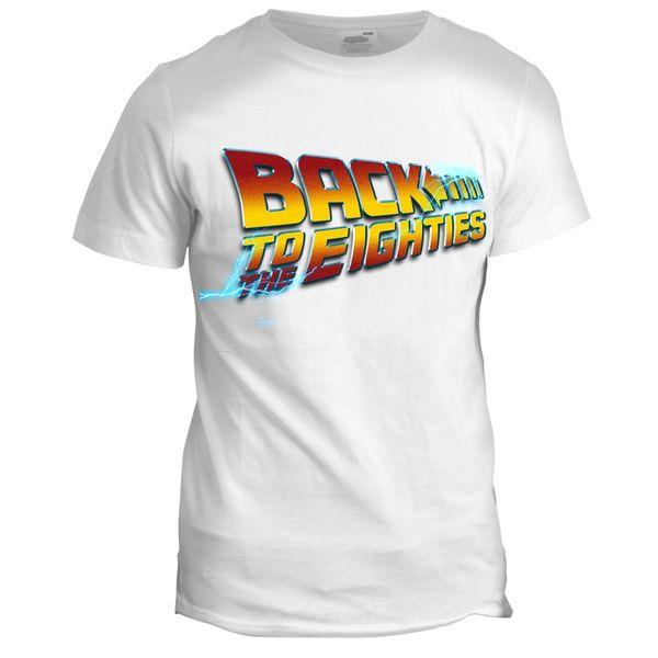 Geri 80 s Mens Baba Doğum Günü 80th Geri Gelecek Film Grandad T Gömlek Yeni T Shirt Komik Üstleri Tee Yeni Unisex Komik
