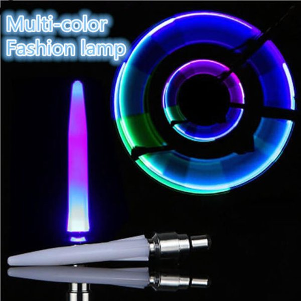 2Pcs cool multi-color light Motion sensors Activated Glow Bike Car Motorcycle Tire Valve Caps Wheel Light for night safety
