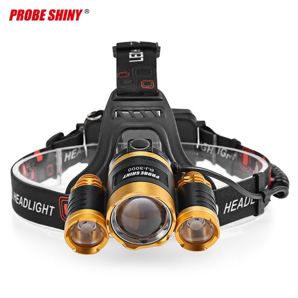 PROBE SHINY Head-mounted Focusing 20W LED Headlight maximum irradiation distance is 500m and The brightness is 3,000 lumens