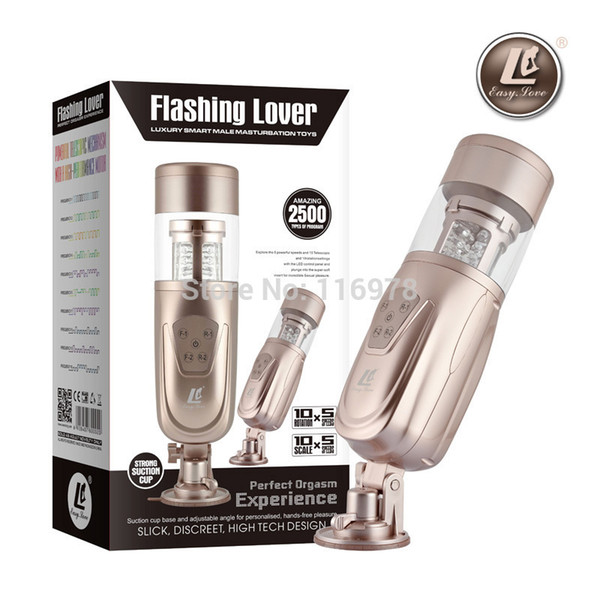 New Easy Love Telescopic Lover 2 Automatic Sex Machine, Rotating and Retractable Electric Male Masturbators, Sex Toys for Men D18110506