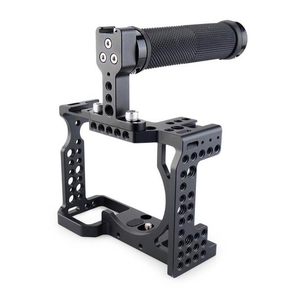 Großhandels-DSLR-Kamera-Käfig mit Spitzengriff für Kamera Sony A7II / A7III / A7SII / A7M3 / A7RII / A7RIII, zum der Erweiterungs-Ausrüstung schnell freizugeben