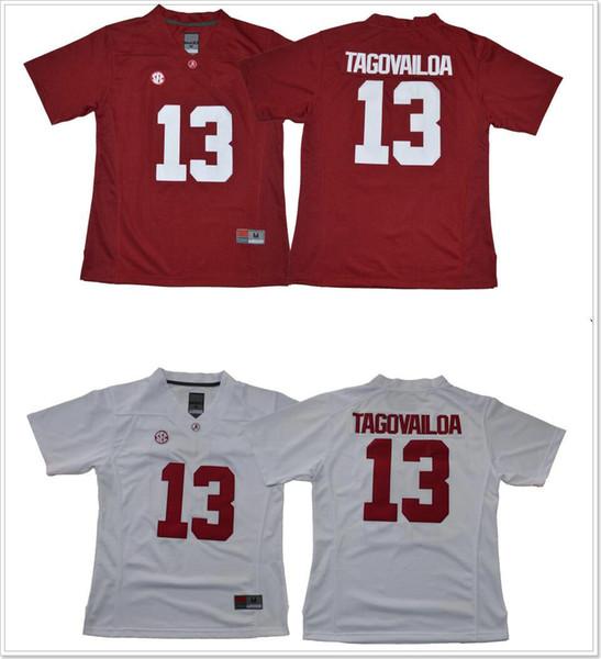 d17f3b116 Womens Alabama Crimson Tide  13 Tua Tagovailoa Cheap Stitched Embroidery  College team American Football Pro Sports Jerseys On Sale