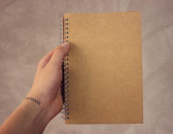 A5 Craft Paper Spiral Dot Inner Page Notebook Grid Line Blank Page Notebook 80 Sheets 160 Pages