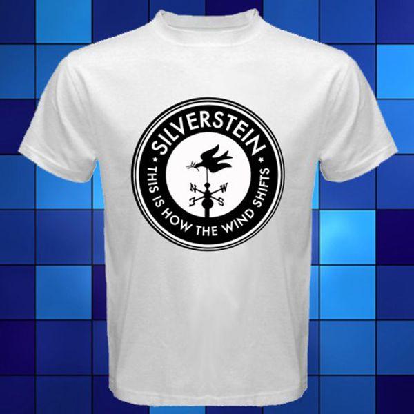 New Silverstein Hardcore Band Logo White T Shirt Size S M L Xl 2xl 3xl Mens Shirts Short Sleeve Trend Clothing