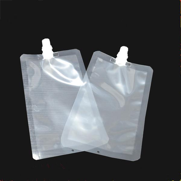 500 teile / los 200 ml Kunststoff Getränk Verpackungsbeutel Auslauf Beutel für Getränke Flüssigsaft Milch Kaffee T2I077
