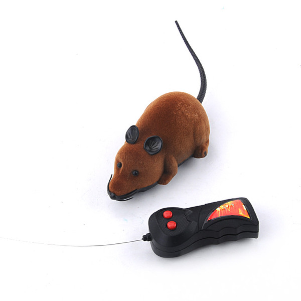 Two-Way Remote Control Rotating Mouse Emulation Flocking Mouse Toys for Cat Playing Wireless RC Rat Toy Randomly Color #45