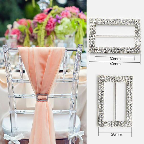 Rhinestone Ribbon Buckle Wholesale Buckle Crystal Slider Silver Wedding Invitation Chair Sash Buckles Wedding Supplies Napkin Ring Buckle