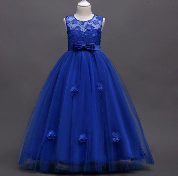 Compre Vestido De Gala Vestido De Niña De Flores Moda Para Niñas Encaje Rosa Con Apliques Fiesta Tul Princesa Vestido De Niña Pequeña Fotos Reales A