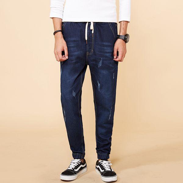 Hot Sale Spring Large Big Size M-7XL 8XL Jean 2018 Mens Fashion Jeans Business Casual Men Harem Pants Clothes New Fashion Brand