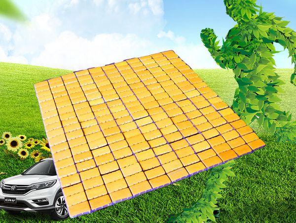 New Arrive 2019 Car Seat Covers Free Clipping Square Bamboo Pad Car Cool Pad Mahjong Pads Car Seat Cushion Free Cut 8PCS/Lot
