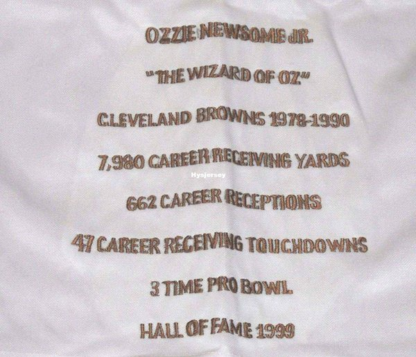 pretty nice 5ebf6 9e868 2019 Cheap Retro #82 OZZIE NEWSOME CUSTOM STAT MITCHELL & NESS Jersey LAST  ONE White Mens Stitching High End Size S 5XL Football Jerseys From ...