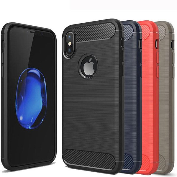 Rugged Armor Case for iPhone Xs Max XR X 8 7 6 6S Samsung Galaxy S8 S9 Plus S7 edge Note 9 8 Anti Shock Absorption Carbon Fiber