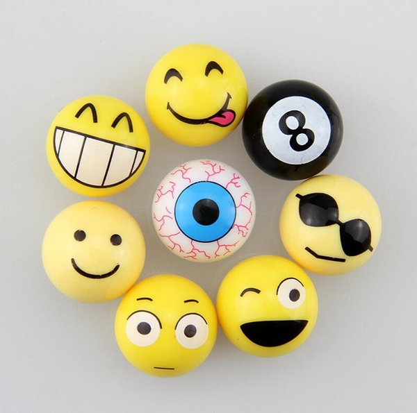 4Pcs/lot Emoji Universal Moto Bike Car Tire Valve Cap Wheel Dust Covers Yellow Smile Face Ball Car Styling Fit for Chevy Mercedes