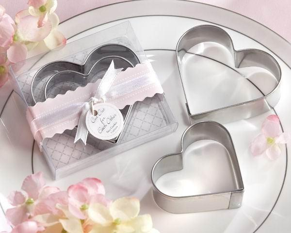 50pcs Stainless steel heart-shaped cake mold Wedding gifts for guests Favor cake cookie cutter love omelette device