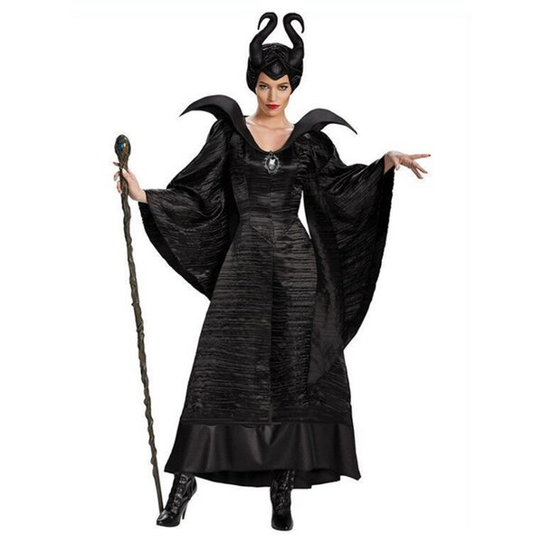 Halloween Women Black Sleeping Beauty Witch Queen Maleficent Costumes Carnival Party Cosplay Fancy Dress M 3xl Adult Group Costumes Costume Party