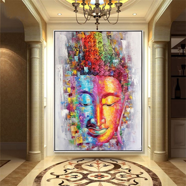 buddha canvas painting picture wall art home decoration hand painted modern abstract oil painting on canvas gift unframed painting