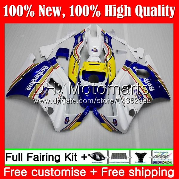 Body For HONDA CBR 600F2 FS CBR600 F2 91 92 93 94 46MT10 Rothmans Blue CBR600FS CBR 600 F2 CBR600F2 1991 1992 1993 1994 Fairing Bodywork