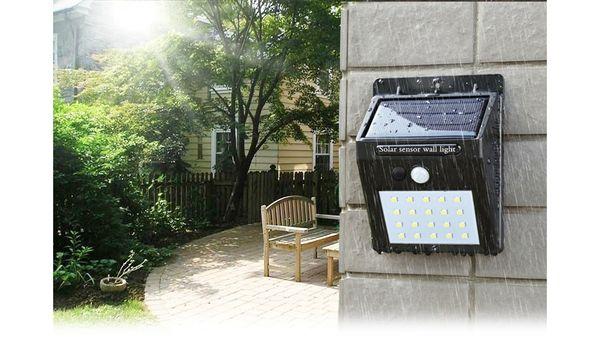 Extérieur Lampe solaire 8 DEL Bright Capteur De Mouvement garde de sécurité Détecteur de mouvement