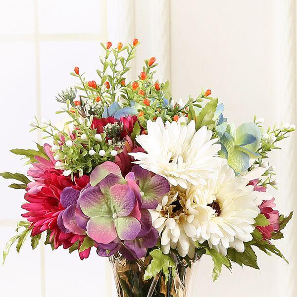 Artificielle vif Tournesol Soleil Fleur Home Party Décoration Faux Fleur Soie Marguerite Décoratif De Mariage Décoration Bouquet