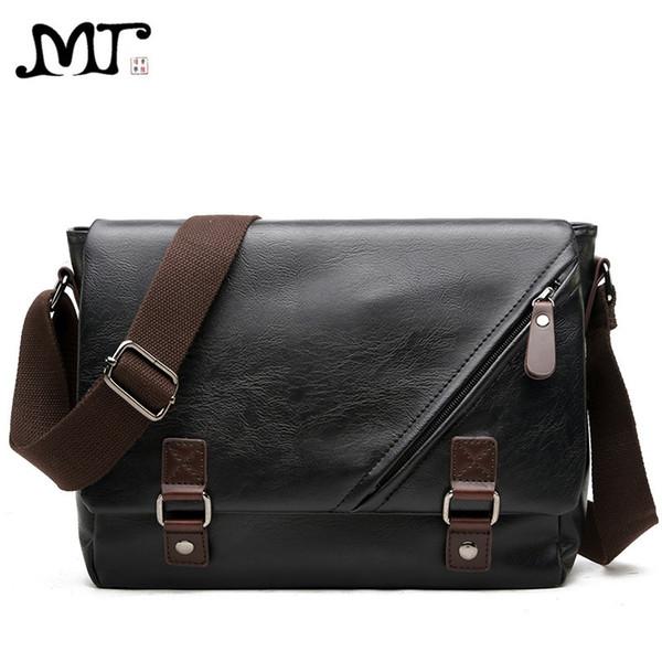 MJ Men's Bags Vintage PU Leather Male Messenger Bag High Quality Leather Crossbody Flap Bag Versatile Shoulder Handbag for Men