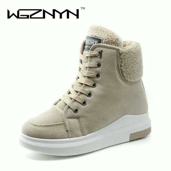 WGZNYN Hot Sale New fashion fur female warm ankle boots Brand Design women boots snow boots and autumn winter women shoes ZY005