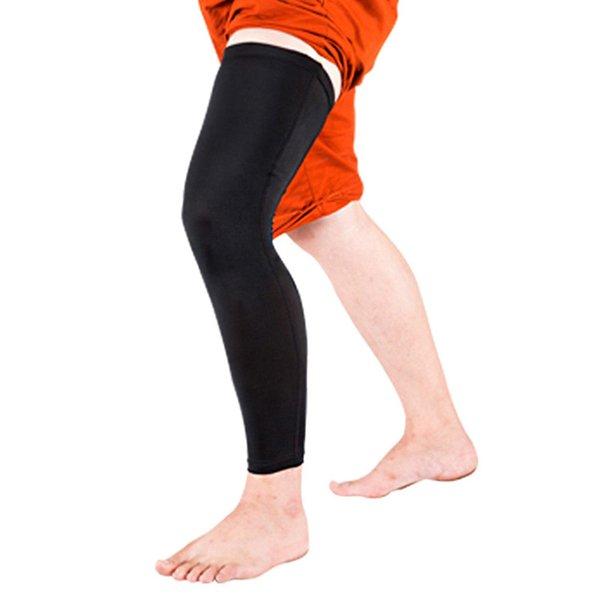 Transpirable Baloncesto Manga Pierna Muslo Calf Rodillera Apoyo Protector Compresión Leggings Protector Pierna Calentadores MS117G