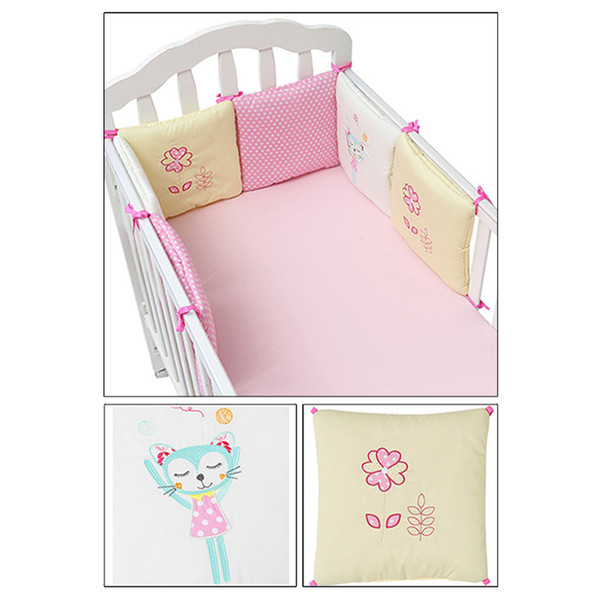 top popular Hot Sale 6Pcs Lot Baby Bed Bumper in the Crib Cot Bumper Baby Bed Protector Crib Bumper Newborns Toddler Bed Bedding Set 2021
