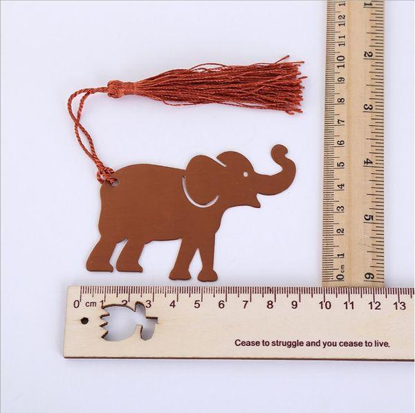 100 adet püskül ile şanslı fil bookmark düğün hediyeleri hediye kutusunda, bebek duşlar hediyelik eşya