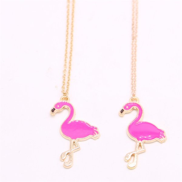 Collana pendente Flamingo Collana hot-vendita Collana pendente flamingo elemento disegnata per le donne Mix di vendita al dettaglio e all'ingrosso