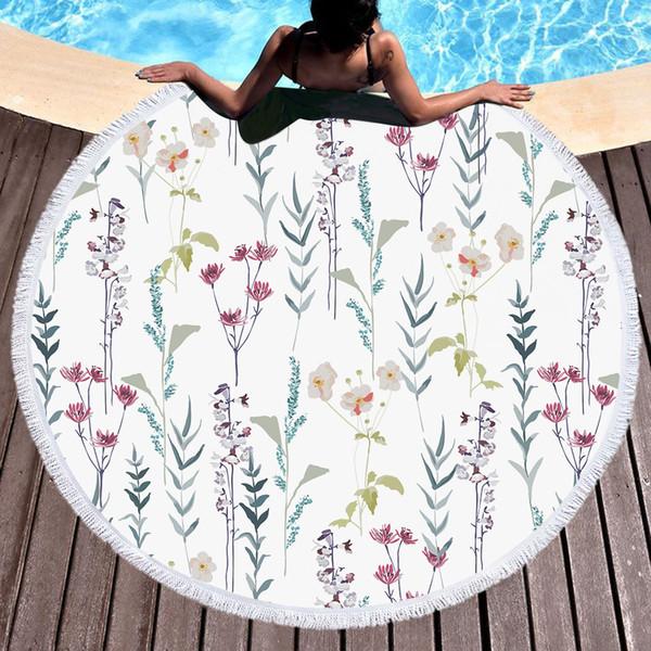 Бесплатная доставка новинка Рождество подарок элегантный цветок завод шаблон открытый пляжное полотенце йога медитация мат стены искусства гобелен номер делитель 150 см
