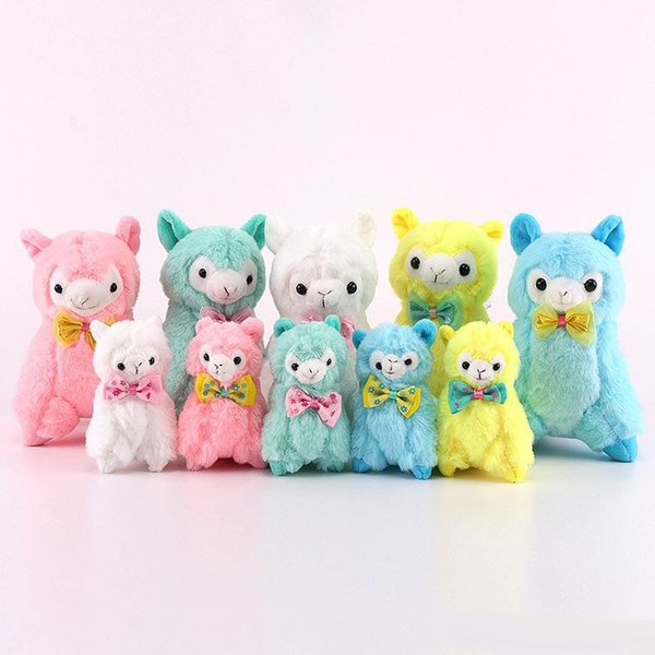 best selling Hot Sale 10pcs Lot 11CM   18CM Alpaca Sheep Plush Stuffed Animals Alpacos Doll Toy Gifts for kids