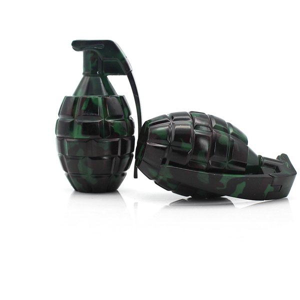 Grenade Shape Camouflage Metal Zinc Alloy Herb Smoking Grinder Tobacco 3 Layers 20PCS/LOT