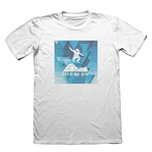 T-Shirt Snowboarding - Regalo di Natale Festa del papà maschile # 7345 T-Shirt nuove di abbigliamento di marca 2018 T-shirt novità uomo New 2018