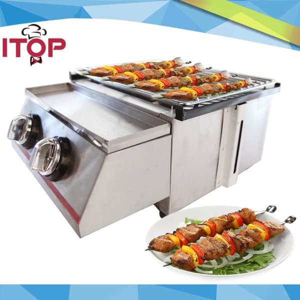 2-burner BBQ Grill Glass/Steel Cover Sier/Yellow Color Adjustable Height Easily Assembled Barbecue Stove
